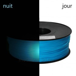 Filament ABS 1kg 1,75mm Phosphorescent Bleu