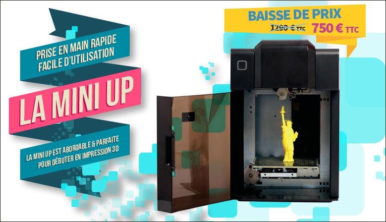 Offrez vous une imprimante 3D Up mini pour noel